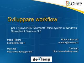Sviluppare workflow
