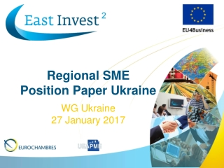 SME  COMPETITIVENESS Industrial Clusters; Developing Regional Value Chains for Competitiveness; Sourcing markets for SME