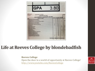 Life at Reeves College on Instagram by blondebadfish
