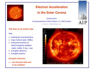 Electron Acceleration  in the Solar Corona
