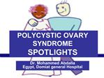 polycystic ovary syndrome spotlights