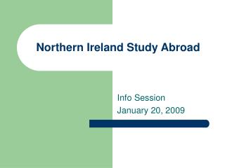 Northern Ireland Study Abroad