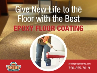 Long Lasting Exterior Epoxy Floor Coating in Denver