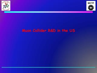 Muon Collider RD in the US