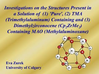 Investigations on the Structures Present in a Solution of  1 Pure, 2 TMA Trimethylaluminum Containing and 3 Dimethylzirc