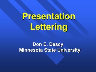 Presentation Lettering
