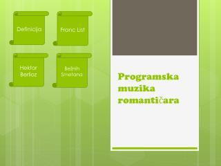 Programska muzika romanticara