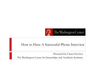 How to Have A Successful Phone Interview