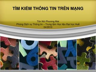 TIM KI  M TH NG TIN TR N MANG