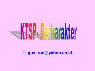 KTSP- Berkarakter