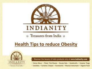 Health Tips to reduce Obesity
