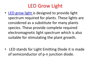 LED Grow Light for efficient agricultural lighting