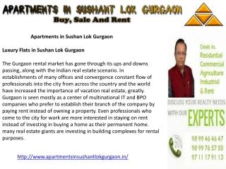 Apartments in Sushant Lok Gurgaon