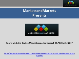 Sports Medicine Devices Market is expected to reach $5.7 bil