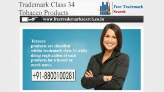 Trademark Class 34 | Tobacco Products
