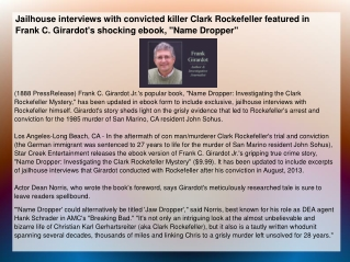 Jailhouse interviews with convicted killer Clark Rockefeller