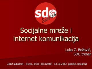Socijalne mre e i internet komunikacija