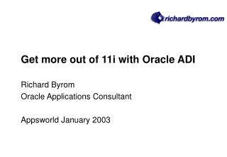 get more out of 11i with oracle adi