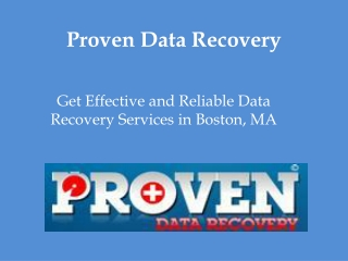 Proven Data Recovery Boston MA