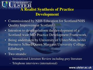A Realist Synthesis of Practice Development