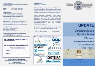 Fachbereich Medizin Klinik f r Unfall-, Hand- und Wiederherstellungschirurgie Direktor: Univ. Prof. Dr. Steffen Ruchholt