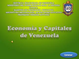 Econom a y Capitales  de Venezuela