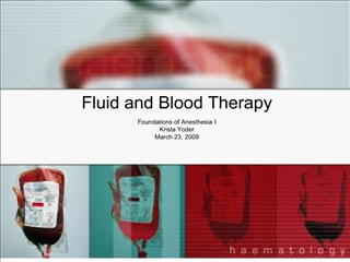 fluid and blood therapy
