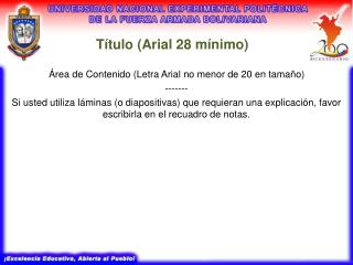 T tulo Arial 28 m nimo