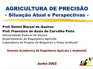 AGRICULTURA DE PRECIS O - Situa  o Atual e Perspectivas -