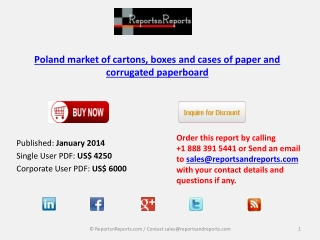Elaborate Overview on Poland market of cartons, boxes and ca