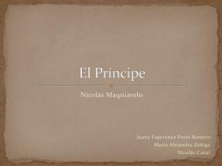 El Pr ncipe