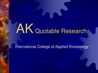 AK Quotable Research