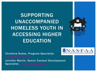 Supporting Unaccompanied Homeless Youth in Accessing Higher Education