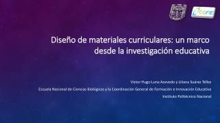 Dise o de materiales curriculares: un marco desde la investigaci n educativa