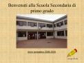 Benvenuti alla Scuola Secondaria di primo grado