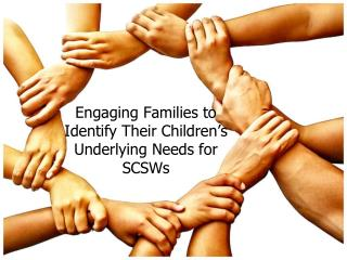 Engaging Families to Identify Their Children s Underlying Needs for SCSWs
