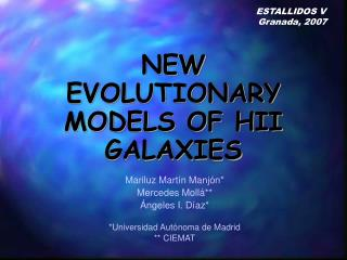 NEW EVOLUTIONARY MODELS OF HII GALAXIES
