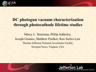 DC photogun vacuum characterization through photocathode lifetime studies