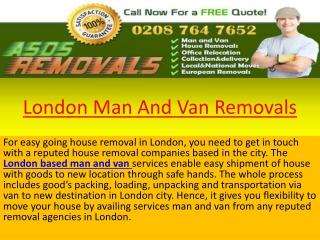 London Man and Van Removals