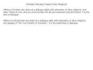 christian attitudes toward other religions
