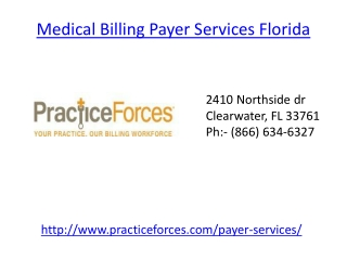 Medical Billing Payer Services