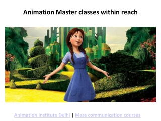 3D Animation and VFX Institute in Delhi
