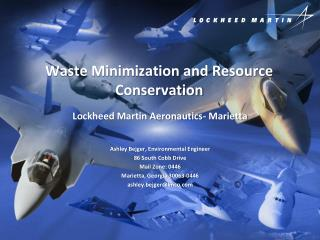 Waste Minimization and Resource Conservation