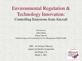 Environmental Regulation  Technology Innovation:  Controlling Emissions from Aircraft