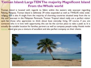 Tioman Island Large TEN The majority Magnificent Island From