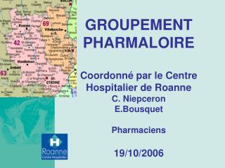 groupement pharmaloire  coordonn  par le centre hospitalier de roanne c. niepceron e.bousquet  pharmaciens  19