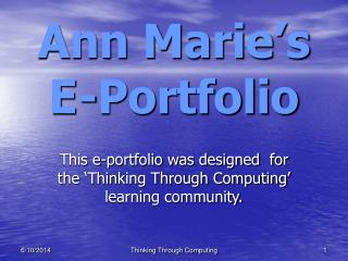 Ann Marie s E-Portfolio
