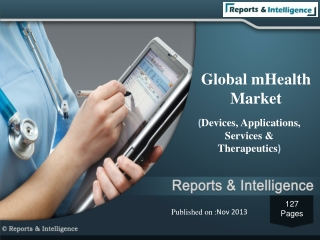 mHealth Market (Devices,Applications,Services,Therapeutics)