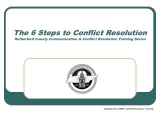 The 6 Steps to Conflict Resolution Rutherford County Communication  Conflict Resolution Training Series