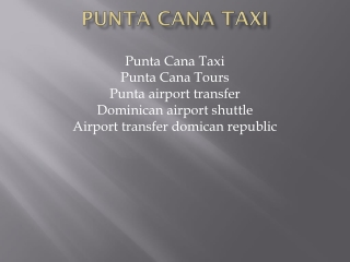 Punta Cana Taxi